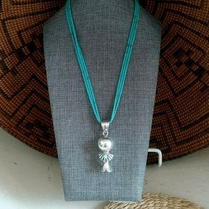 Navajo Turquoise Heishi Necklace & Pendant